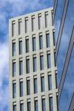 Ciutat de la Justicia, Barcelona. Detail of city justice - Ciutat de la Justicia -  in Barcelona with a private office skyscraper Royalty Free Stock Image