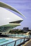 Ciutat de les Arts我les Ciencies,巴伦西亚,西班牙 免版税库存照片