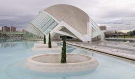 Ciutat de les Arts i les Ciències, Valencia, Spain. Europe and the cinema Royalty Free Stock Photos