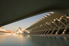 Ciutat de les ciencies in Valencia, Spain. Valencia, Spain. Cultural Arts Center Designed By Santiago Calatrava Stock Photo