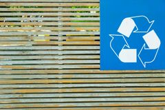 Civic Amenity Site. With recycling symbol stock photos