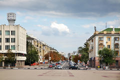 Civic Avenue in Belgorod. Russia Royalty Free Stock Photo