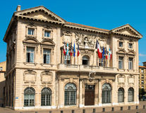 Civic Building, Marseille. Civic building on the harbour front in Marseille, France Stock Photography