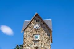 Centro Civico clock tower in downtown Bariloche - Bariloche, Patagonia, Argentina stock images