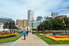 Civic Center park in downtown Denver Royalty Free Stock Photo