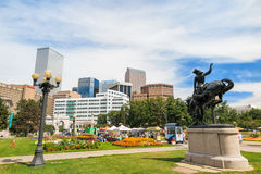 Civic Center park in downtown Denver Royalty Free Stock Image