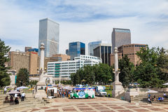 Civic Center park in downtown Denver Royalty Free Stock Photography