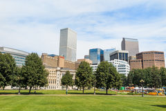 Civic Center park in downtown Denver Royalty Free Stock Images