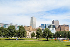 Civic Center park in downtown Denver Royalty Free Stock Photos