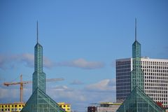 Civic Center Towers in Portland, Oregon royalty free stock image