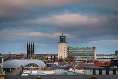 Civic Centre in Newcastle Skyline Royalty Free Stock Photo
