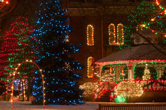 Civic Christmas display Royalty Free Stock Images