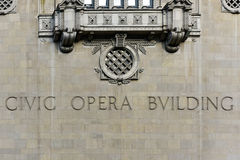Civic Opera Building - Chicago Stock Image