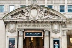 Civic Opera House in Chicago, today it is the permanent home of the Lyric Opera of Chicago Stock Images