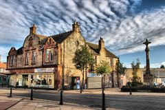 Tranent Town Centre, East Lothian. The Civic Square and War Memorial in Tranent Town Centre, East Lothian Royalty Free Stock Photos