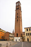 Civic Tower. Municipal tower of the city of Forli, built in the 10th century a.C., was destroyed by the Nazis in 1944 and rebuilt in 1976. It is the simbol of Royalty Free Stock Images