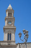 Civic Tower Clock. Altamura. Apulia. Stock Photo