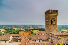 Civic tower in the medieval village of bertinoro Royalty Free Stock Photos