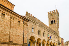 Civic tower in the medieval village of bertinoro Royalty Free Stock Photo