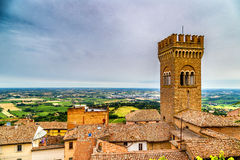 Civic tower in the medieval village of bertinoro Royalty Free Stock Photography