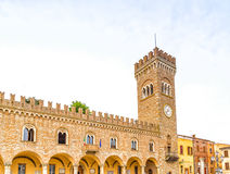 Civic tower in the medieval village of bertinoro Royalty Free Stock Image