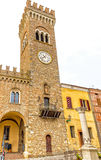 Civic tower in the medieval village of bertinoro Stock Photo