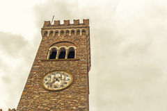 Civic tower in the medieval village of bertinoro Royalty Free Stock Images