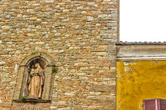 civic tower in the medieval village of bertinoro Stock Images