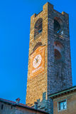 Civic Tower in old town of Bergamo, Italy Stock Photos