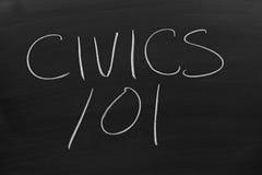 Civics 101 Na Blackboard obraz royalty free