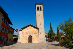 Cividale del Friuli - Church Santi Pietro e Biagio. Church of Saints Pietro e Biagio (XV century) of Catholic religion in Cividale del Friuli, Udine, Italy Royalty Free Stock Photo