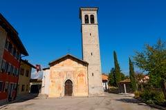 Cividale del Friuli - kyrkliga Santi Pietro e Biagio Royaltyfri Foto