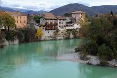 Cividale del Friuli na queda Imagem de Stock