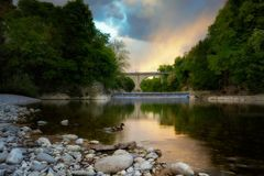 Cividale (Italy)River Natisone Royalty Free Stock Photography