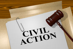 Civil Action - legal concept Royalty Free Stock Photography