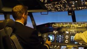 Civil aircraft cockpit. stock video