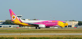Civil aircrafts parking at Don Muang International airport Stock Photo