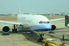 Civil aircrafts parking at Tan Son Nhat International airport Royalty Free Stock Photography