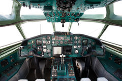 Civil airplane cockpit Royalty Free Stock Images