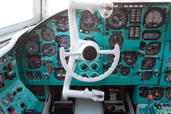 Civil airplane cockpit Stock Photos