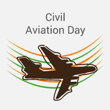 Civil aviation day. Creative banner or poster For Civil aviation day Royalty Free Stock Images