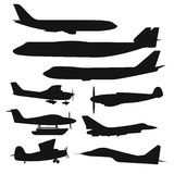 Civil aviation travel passanger air plane vector Royalty Free Stock Image
