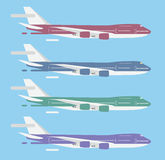 Civil aviation travel passanger air plane vector Stock Photo