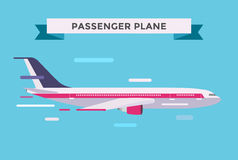 Civil aviation travel passanger air plane vector Stock Image