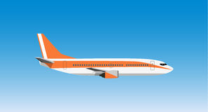 Civil aviation travel passenger air plane vector illustration. Stock Photo