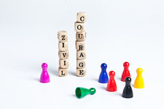 Civil courage Stock Image