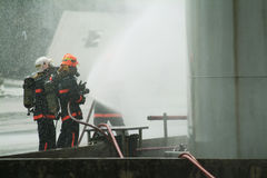 Civil Defence officers training Royalty Free Stock Photo
