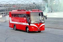 Civil Defense bus at NDP 2009 Royalty Free Stock Photos