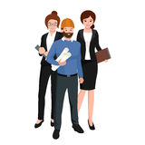 Civil engineer, architect and construction workers group. Workers people Royalty Free Stock Images