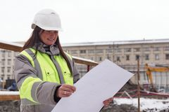 Civil Engineer At Consruction Site Royalty Free Stock Photography